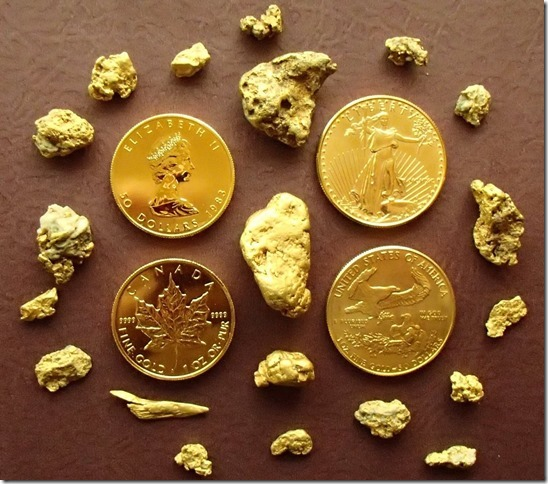 picture of gold found on the HeavyMetal II claim